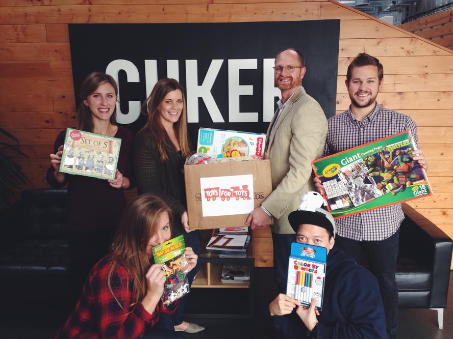 Cuker Participates in Toys for Tots